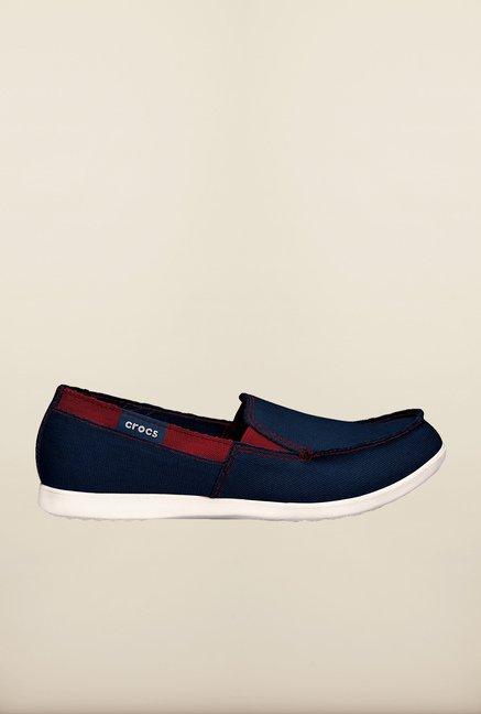 Crocs Melbourne Navy & Oyster Loafers