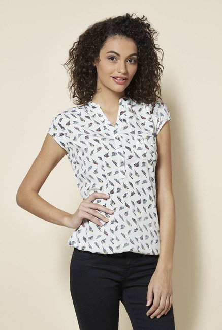 Zudio White Peny Blouse