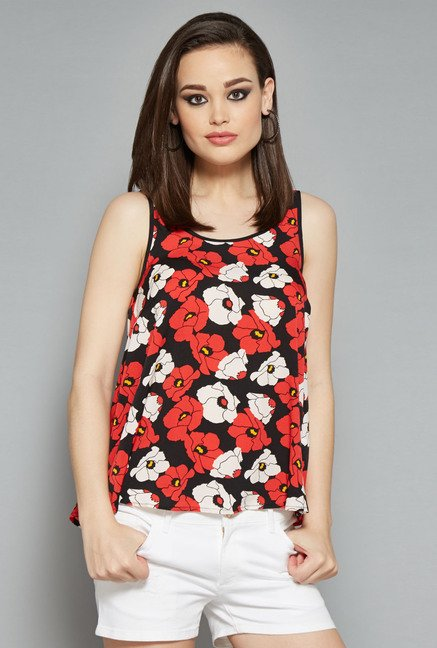 Nuon Black Floral Printed Blouse