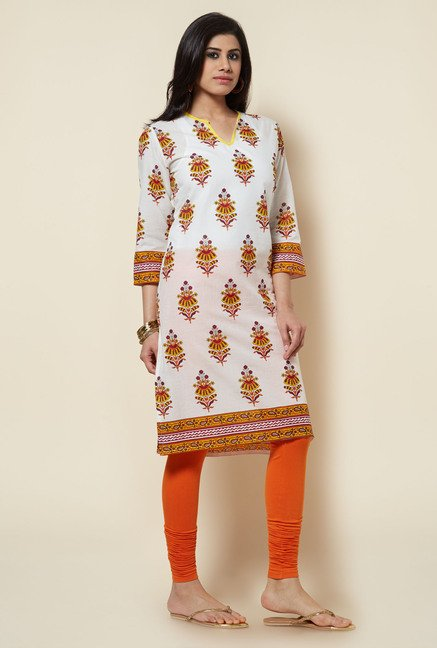 Zudio White Cotton Kurta