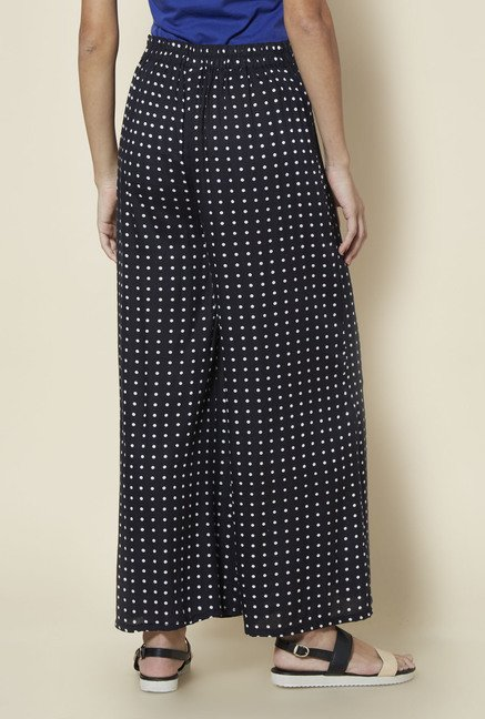 Zudio Black Printed Palazzos