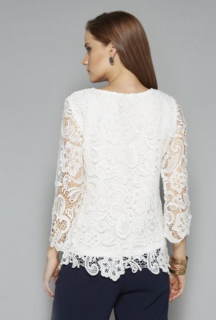 Wardrobe Off White Mirage Blouse