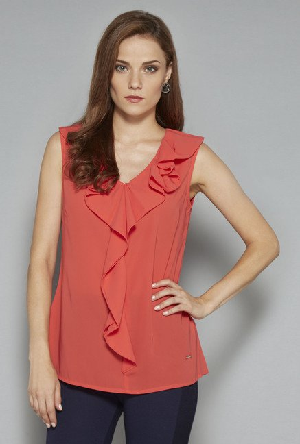 Wardrobe Orange Brooke Blouse