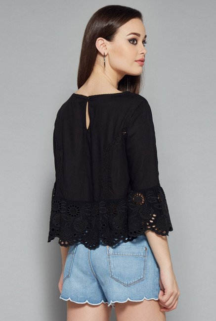 Nuon Black Latino Blouse