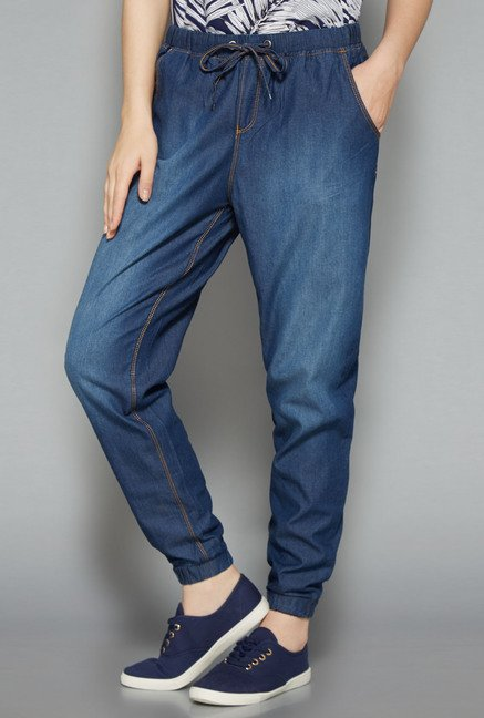 Nuon Dark Blue Solid Joggers