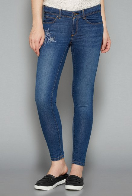 Nuon Ice Blue Solid Jeans
