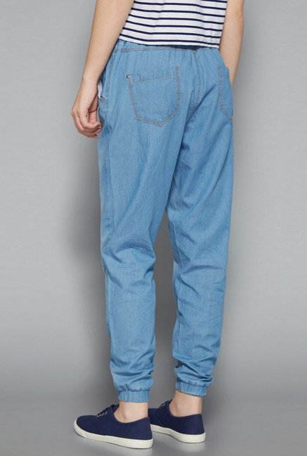 Nuon Ice Blue Solid Joggers