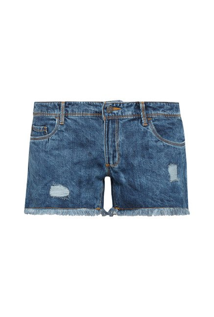 Nuon by Westside Dark Blue Stretch Shorts