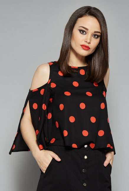 Nuon Black Denma Blouse