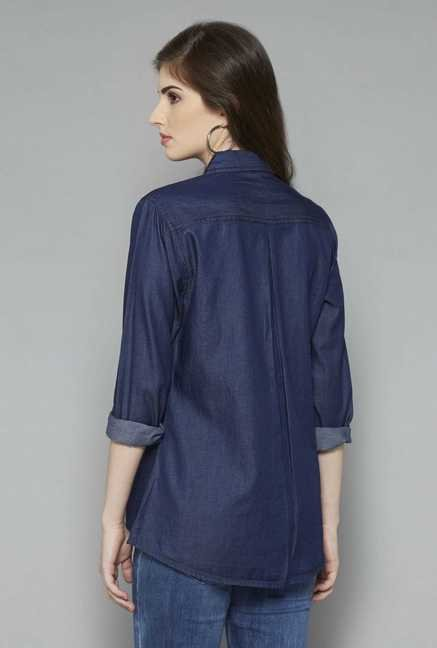 LOV Dark Blue Sania Blouse