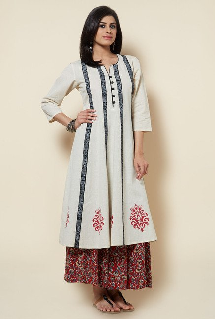 Zudio Beige Cotton Kurta