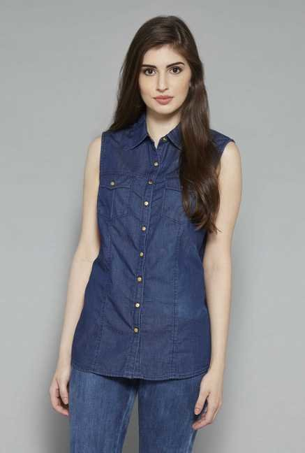 LOV Blue Sonia Blouse