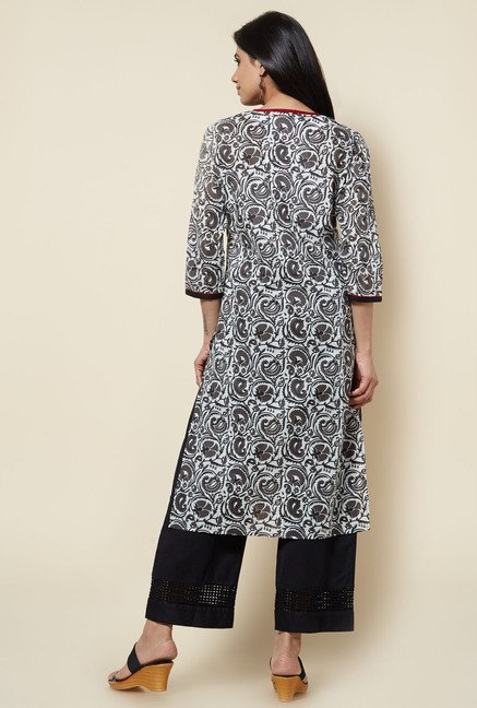Zudio Black Cotton Kurta