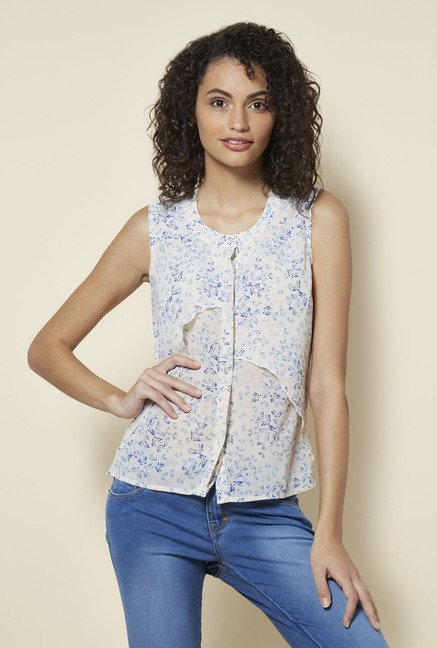 Zudio White Bree Blouse