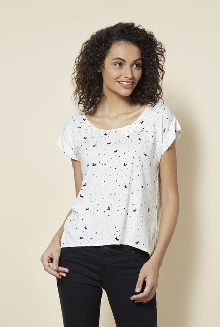 Zudio White Kitty Blouse