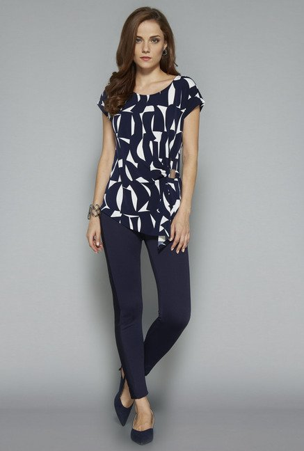 Wardrobe Navy Derby Blouse