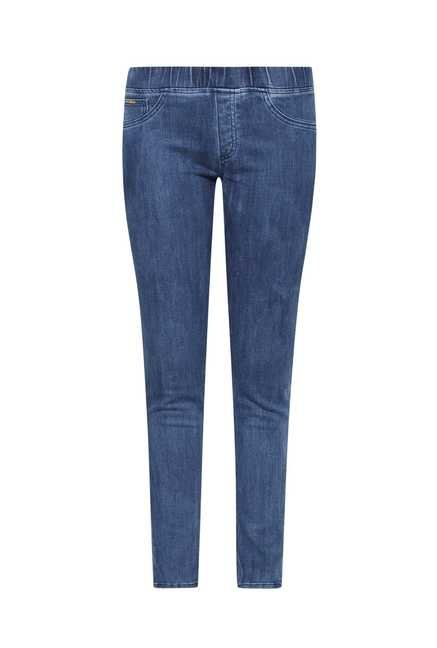 LOV Blue Solid Jeggings