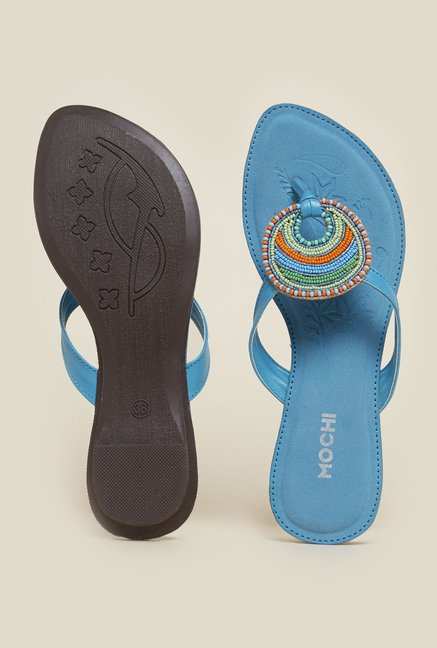Mochi Blue Flat Thongs