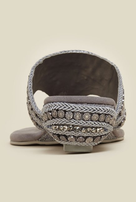 Mochi Gun Metal Ethnic Thongs