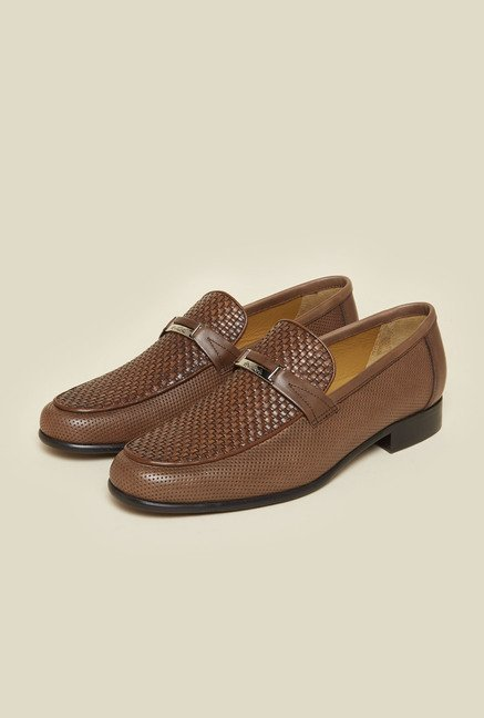 Da Vinchi by Metro Tan Leather Formal Shoes
