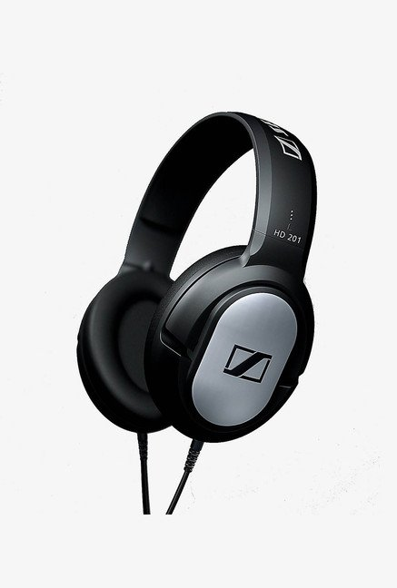 Sennheiser HD 201 Over the Ear Headphone Silver