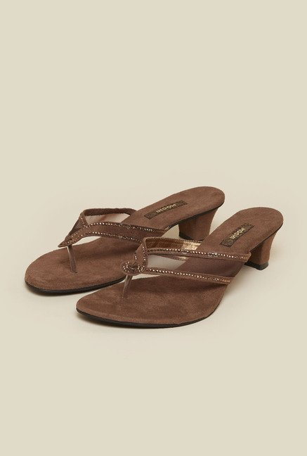 Mochi Brown Ethnic Thongs
