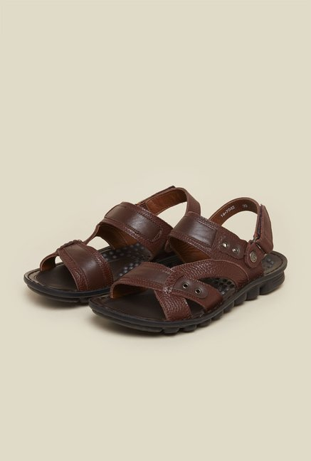 J. Fontini by Mochi Brown Leather Sandals