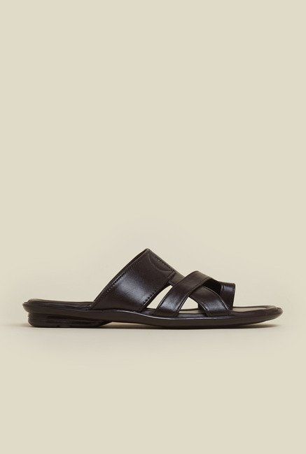 Mochi Dark Brown Leather Sandals