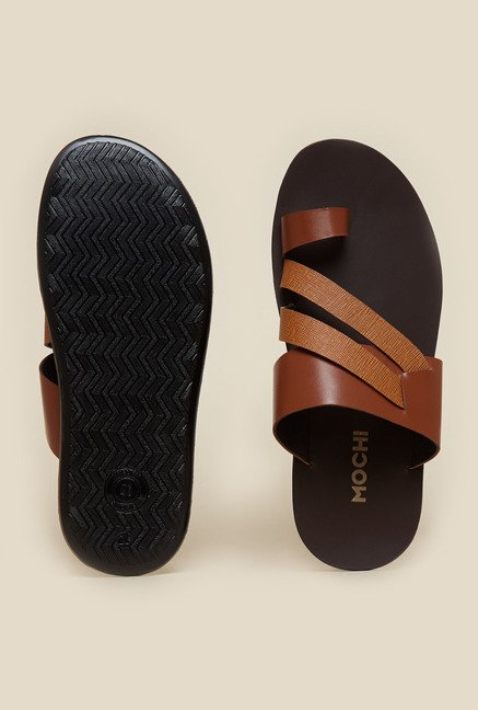 Mochi Tan Leather Sandals