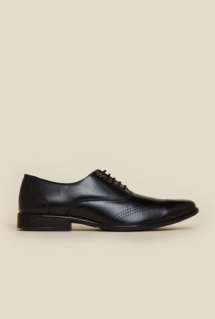 Mochi Black Leather Oxford Shoes