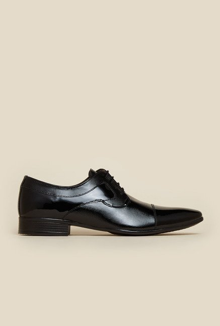 Mochi Black Leather Formal Lace-up Shoes