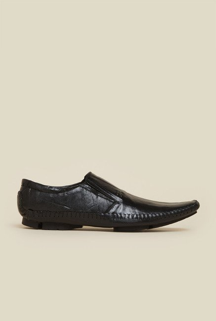 Mochi Black Leather Formal Moccasins