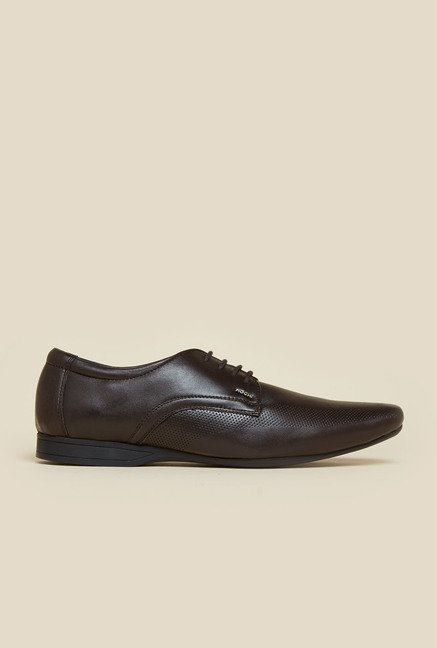 Mochi Brown Leather Lace-up Shoes