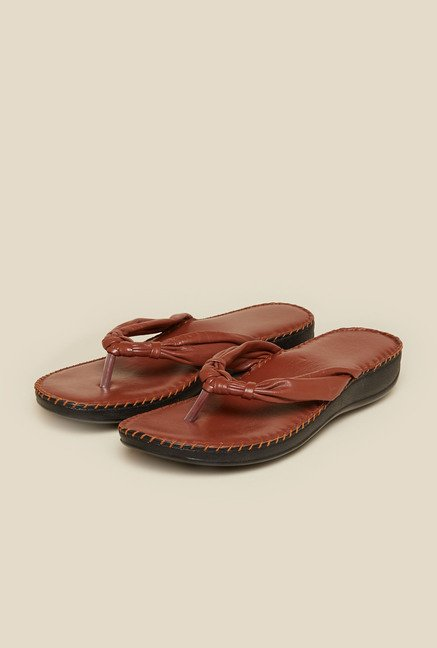 Mochi Brown Flat Thongs