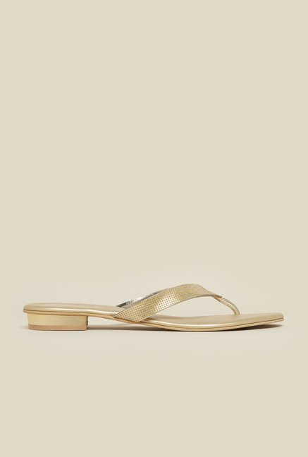 Mochi Gold Flat Thongs