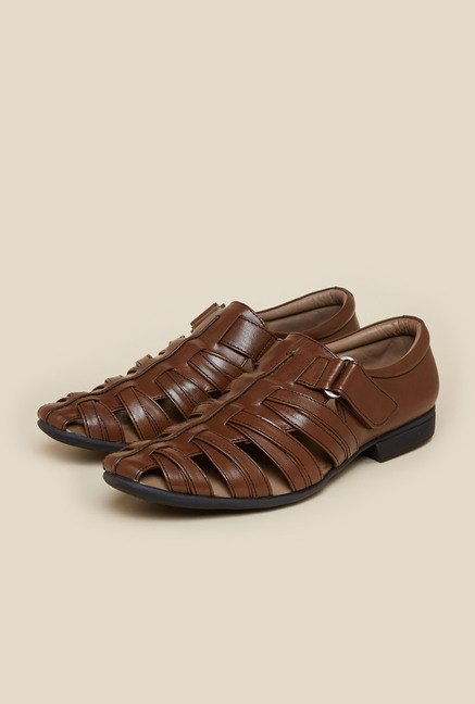 Mochi Tan Leather Fisherman Sandals