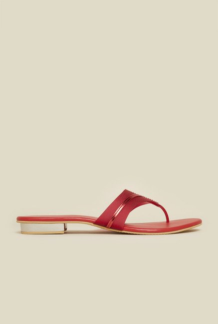 Mochi Red Flat Thongs
