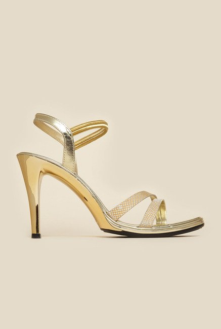 Mochi Gold Stiletto Sandals