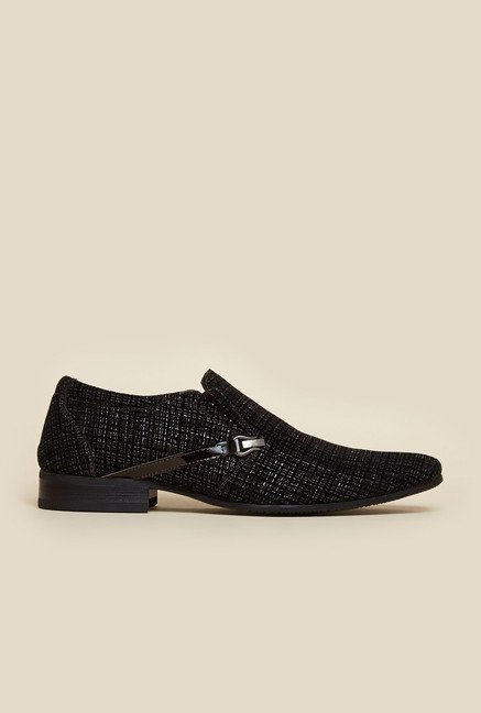 J. Fontini by Mochi Brown & Black Leather Casual Shoes