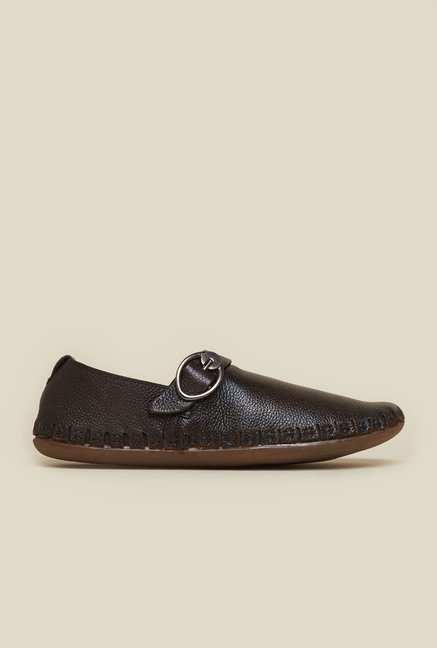 Mochi Brown Leather Casual Moccasins