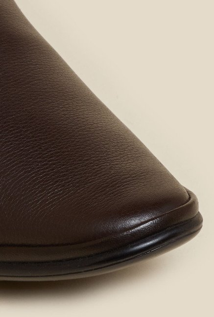 Mochi Brown Leather Formal Shoes
