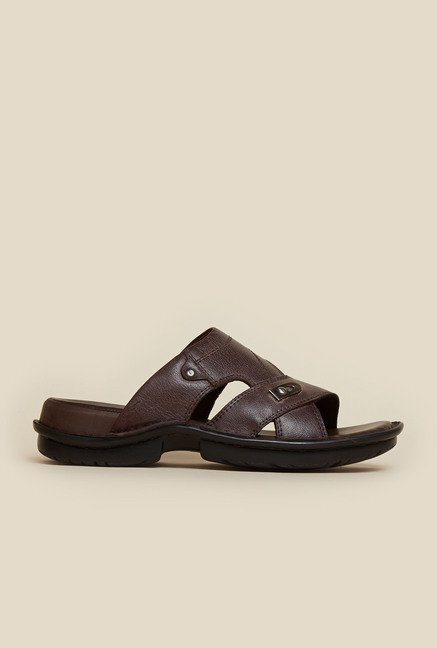 Mochi Brown Leather Mule Sandals