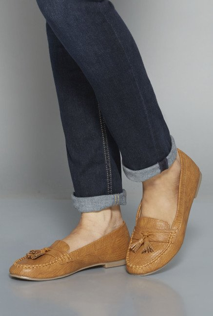Head Over Heels Tan Moccasin