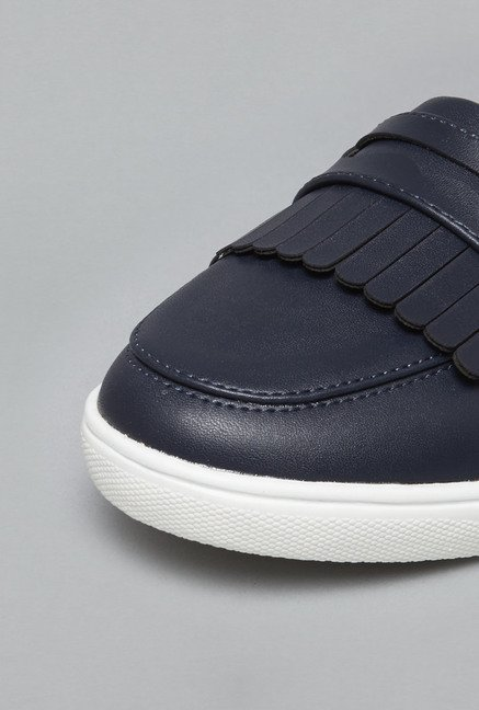 Head Over Heels Navy Kiltie Mules