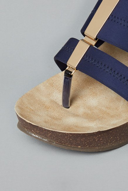 Head Over Heels Navy Wedges