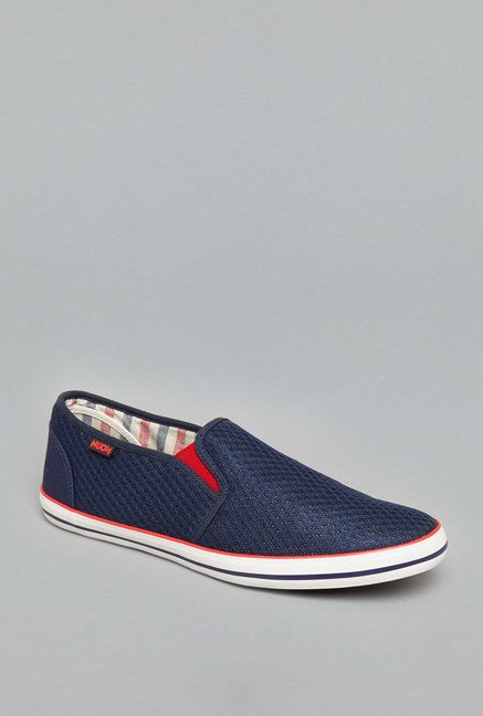 Nuon Navy Slip-Ons Loafers