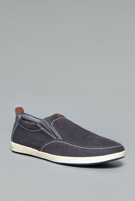 David Jones Navy Leather Shoes