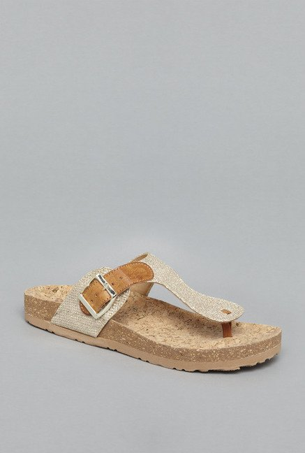 Head Over Heels Gold Flat Sandals