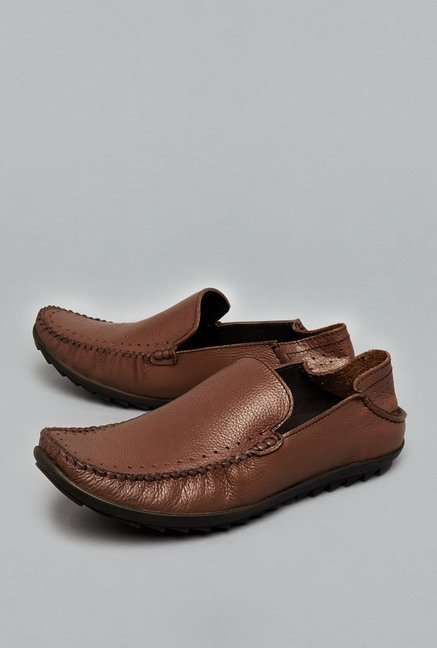 David Jones Brown Slip-Ons Shoes
