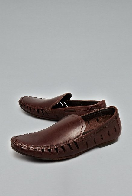 David Jones Tan Slip-Ons Shoes